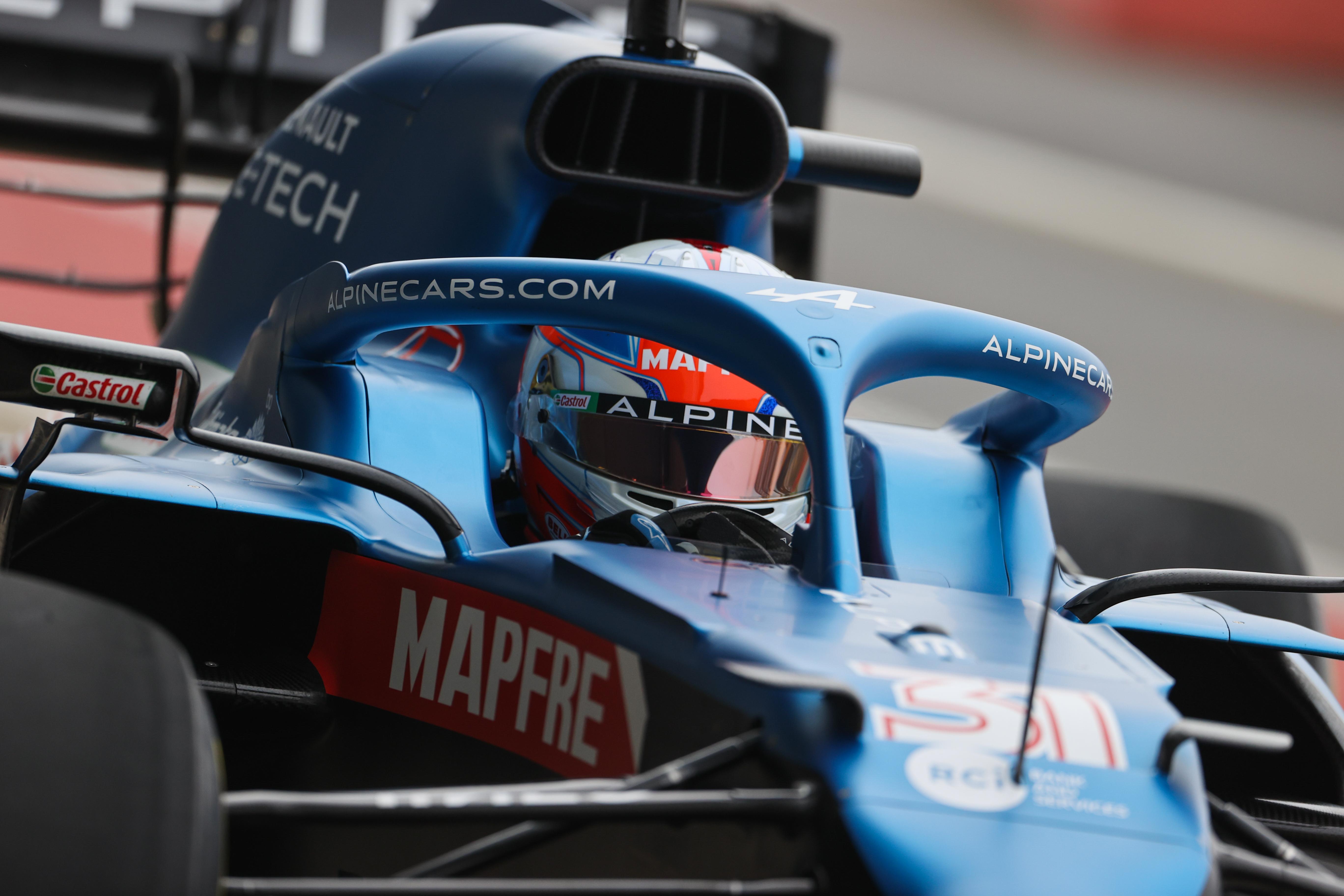 F1 2021 – L'Alpine A521 pousse ses premiers cris en piste (vidéo)
