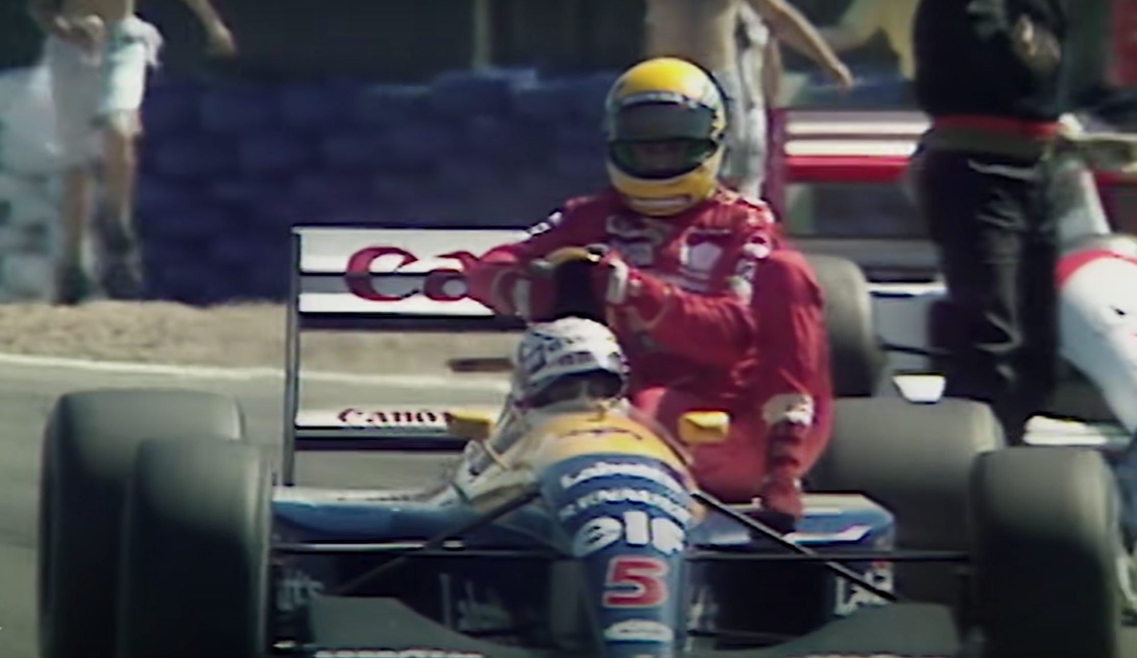 """Mansell a joué au """"taxi"""" pour Senna à Silverstone (+ vidéo)"""